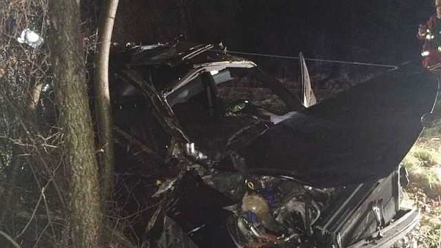 Two people were injured during a crash in Fawn Township Saturday night.