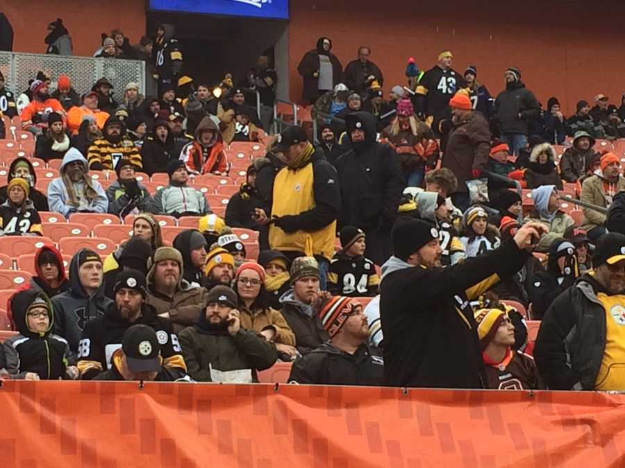 Steelers fans in Cleveland