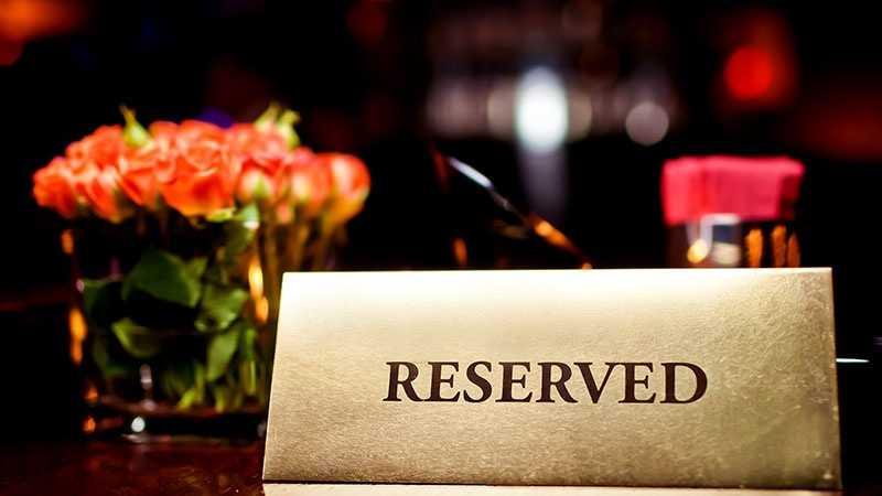 restaurant generic reserved sign