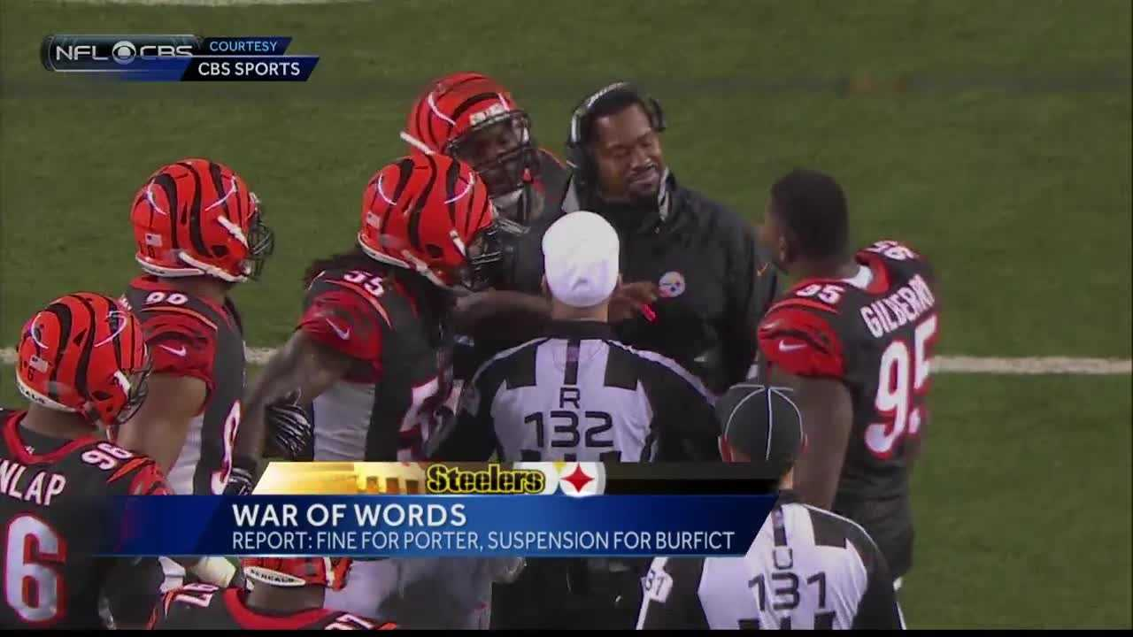 Steelers assistant coach Joey Porter got into it with some Bengals players on the field during a wild-card game.
