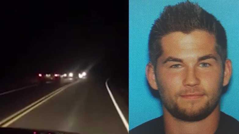 Penn Township police say Jonathan Lukart (right) is suspected of causing a wrong-way crash (left) while driving under the influence on Route 130.