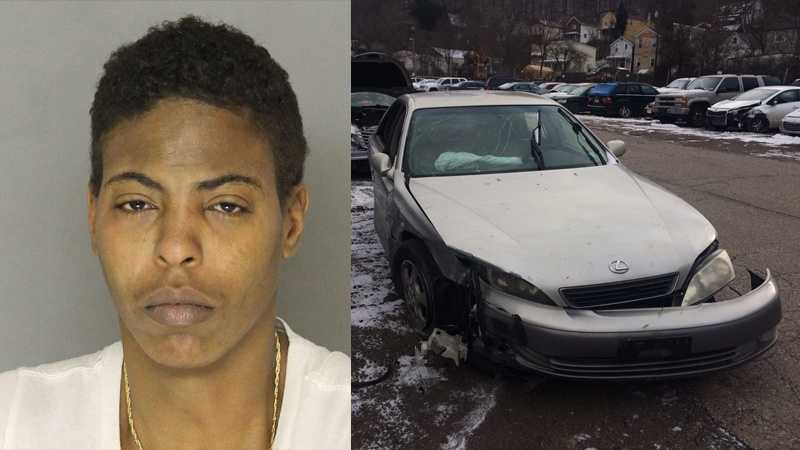 Police say Raelynn Thompson crashed her car on the Parkway East at the Squirrel Hill exit.