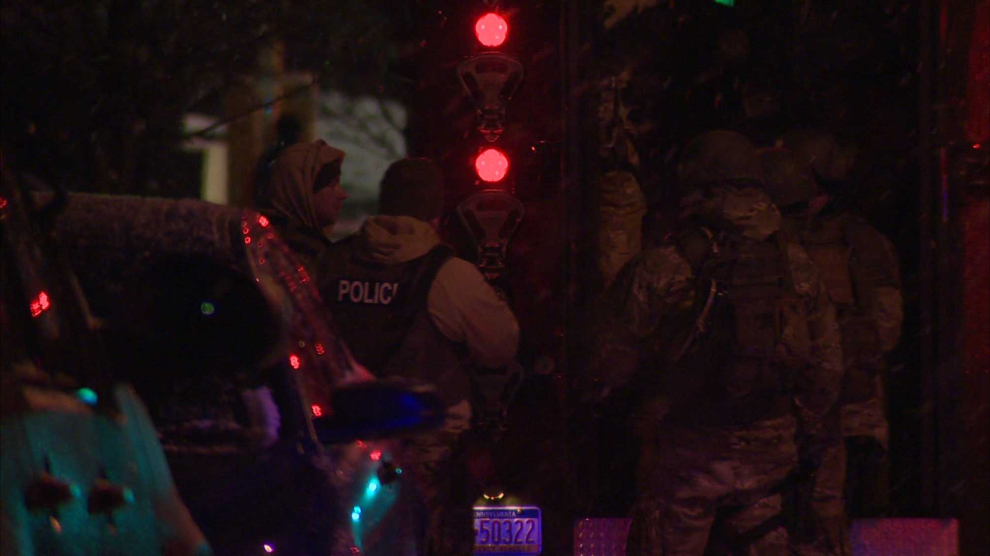SWAT units were called to Bennett Street and North Lang Avenue Wednesday night, Allegheny 911 confirmed.