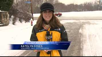 Thursday: Reporter Katelyn Sykes in Squirrel Hill on road cleanup.