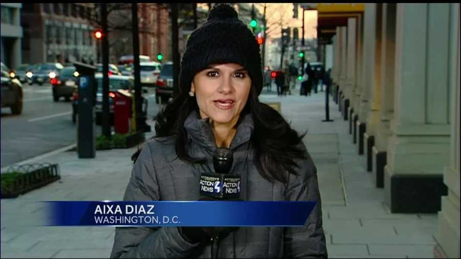 Thursday: Pittsburgh's Action News 4 reporter Aixa Diaz live in Washington, D.C. ahead of the storm.