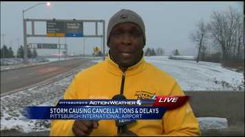 Friday: Reporter Sheldon Ingram made his way to the airport where numerous flights were cancelled going in and out of city. He spoke with multiple fliers to find out their alternative plans.