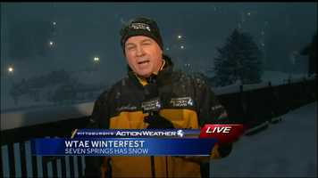 Friday: Chief Meteorologist Mike Harvey live at Seven Spring where snow is no longer a problem for the ski resort which had a slow opening this season.