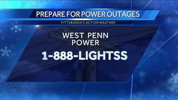 If you experience a power outage during the snow storm, here is the number to call West Penn Power to report it.