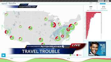 Friday: A look at how many flights have been delayed or cancelled around the country.