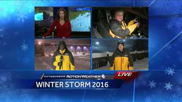 Pittsburgh's Action News 4 in position for live coverage at 5am on Saturday.