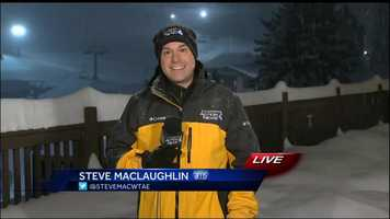 Meteorologist Steve MacLaughlin reporting from Somerset County at 5am on Saturday.