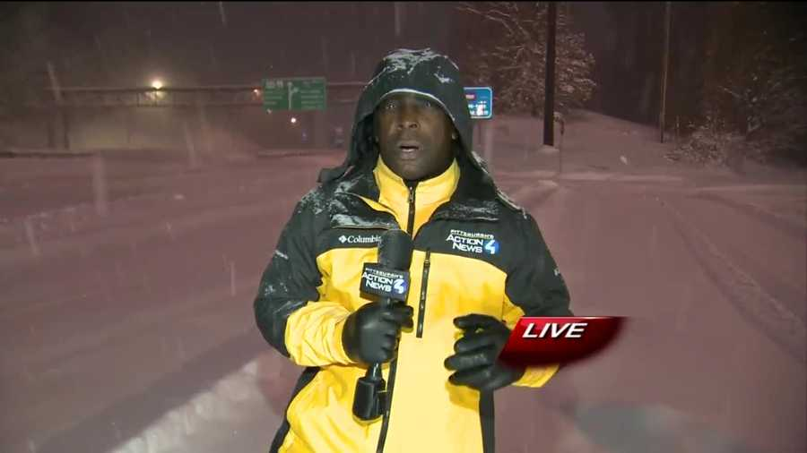 Reporter Sheldon Ingram live at the New Stanton exit of the Pennsylvania Turnpike.
