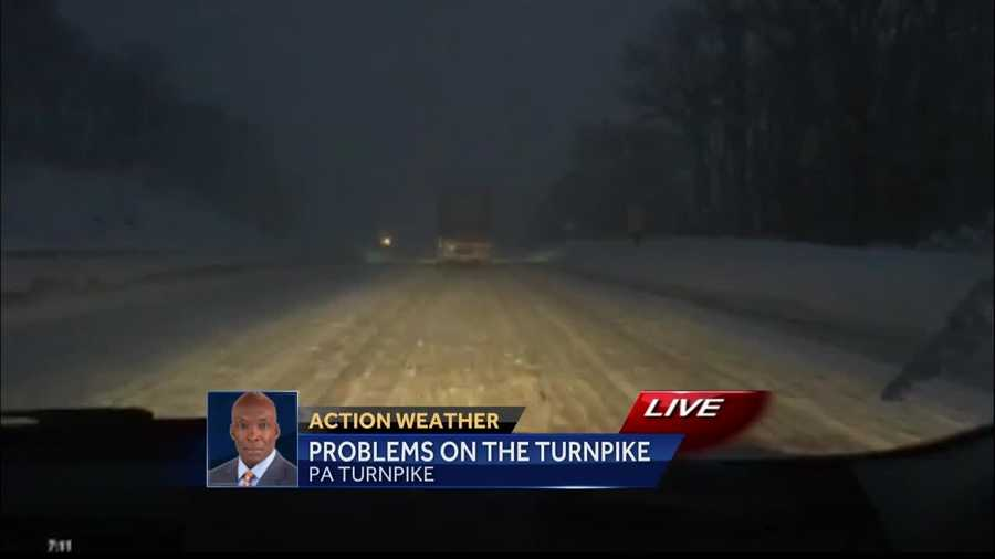 Reporter Sheldon Ingram driving on the Pennsylvania Turnpike at 7am on Saturday