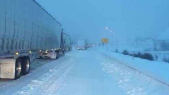 Snowy conditions on the Pennsylvania Turnpike left many stranded for hours during Saturday's snowstorm.