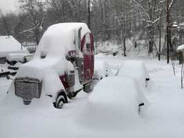 A semi and car buried in Mount Braddock. (Photo: Lorrie-FredHeller)