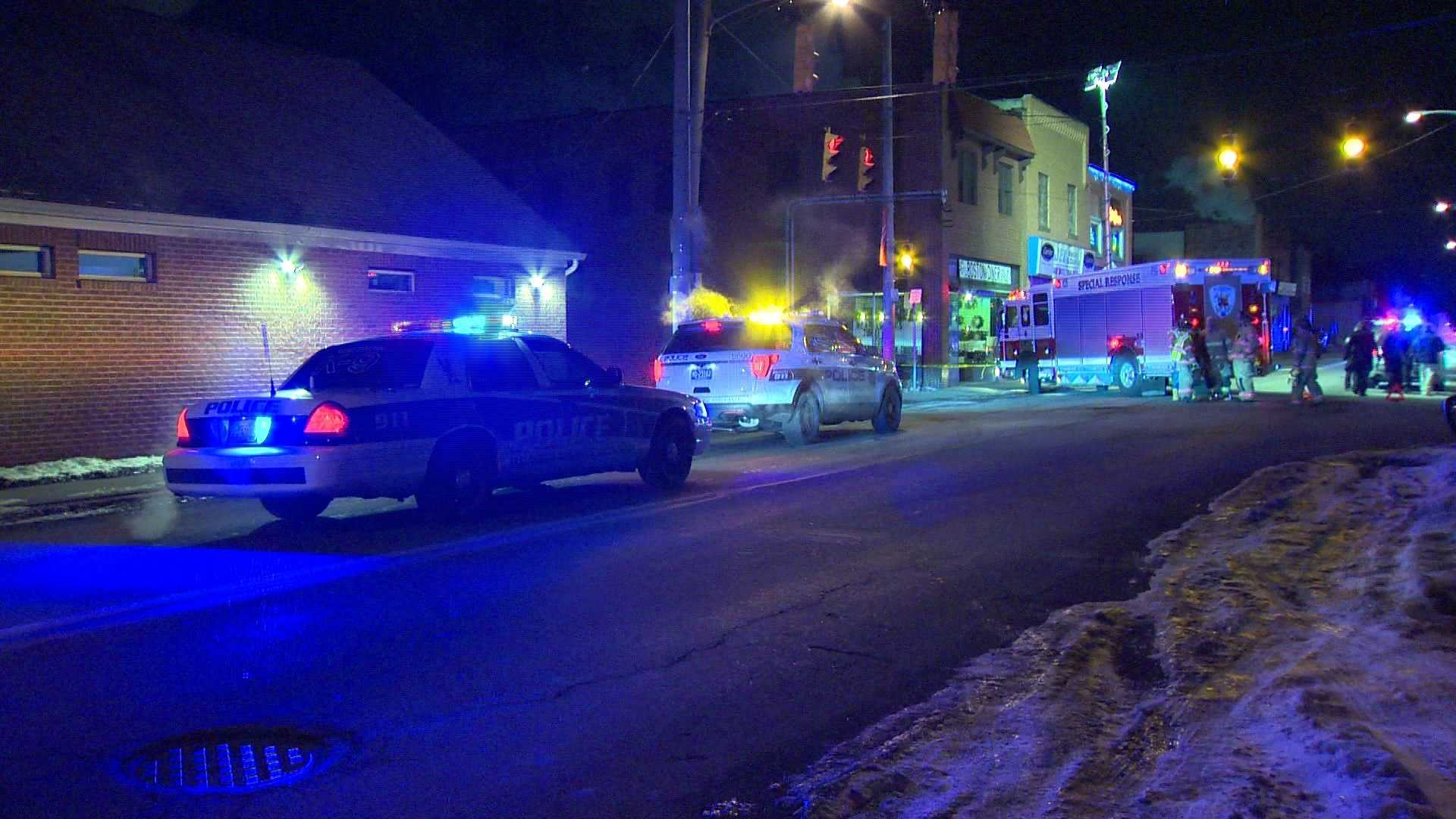 A person was injured after a hit-and-run accident in Clairton late Friday night.
