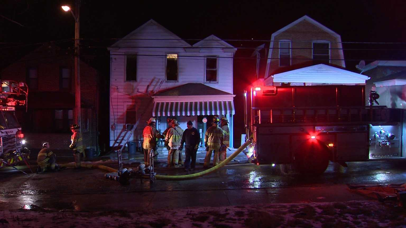 No one was injured during a fire in East Hills late Friday night.
