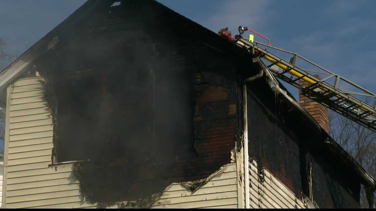 A home was destroyed by fire in Beaver County on Sunday morning.