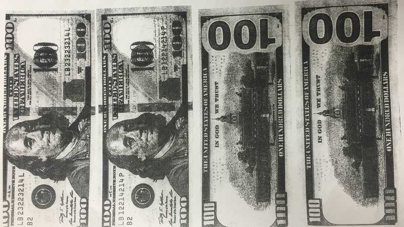 State police say these counterfeit $100 bills were passed at Walmart stores in Western Pennsylvania.