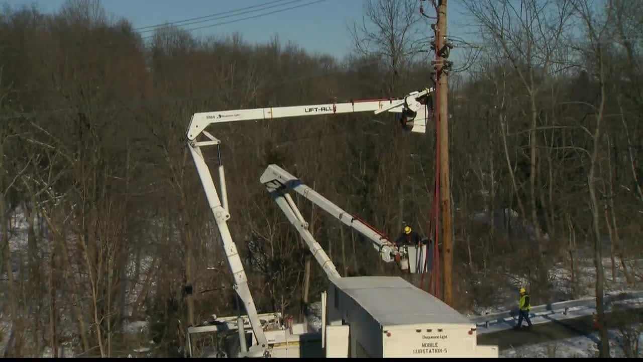 Power outages were reported in Mt. Lebanon Sunday morning.