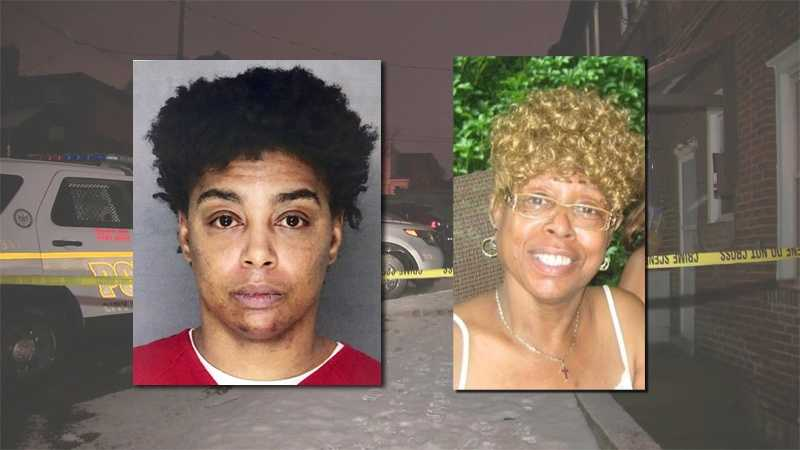 "Police said Sommer Bernard (left) is charged with killing Madeline ""Red"" Bernard (right) in Brighton Heights."