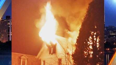 Crews in Westmoreland County worked to battle a house fire early Monday morning.(Photo courtesy Justin Schell)
