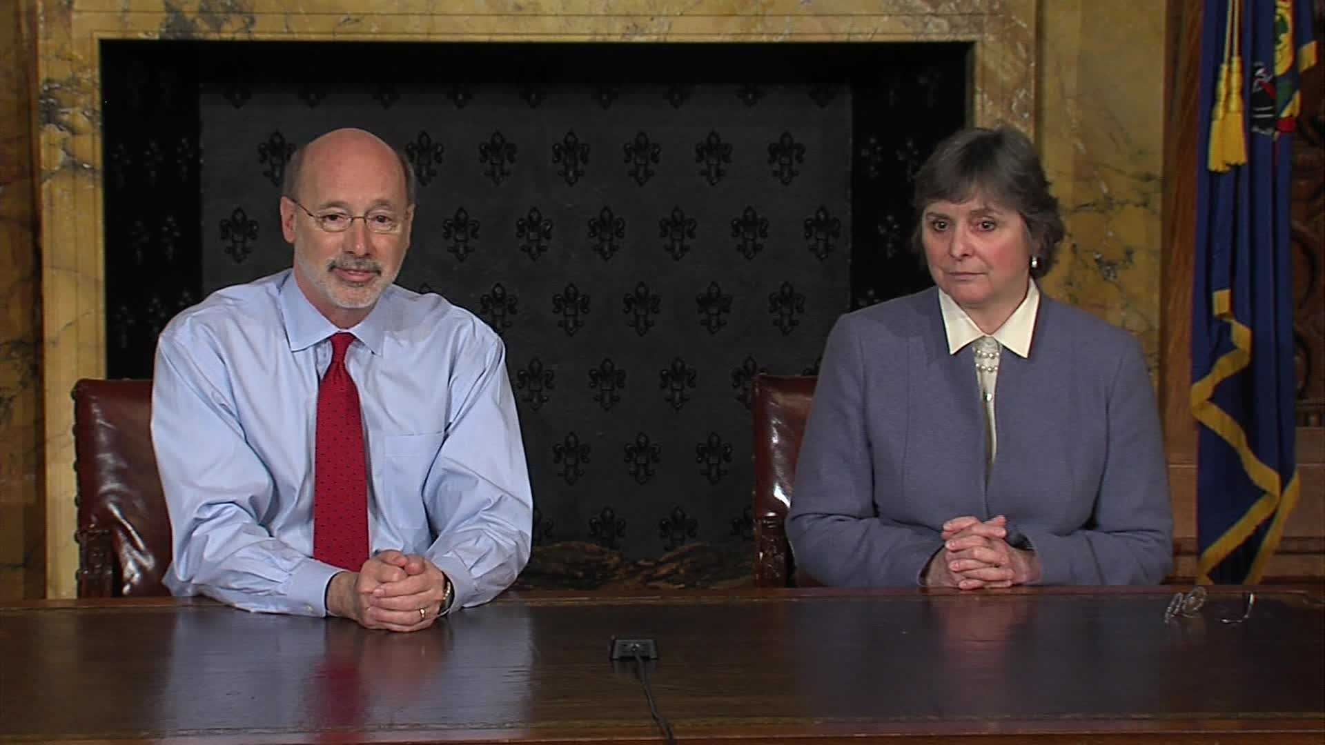 Gov. Tom Wolf with his wife, Frances.