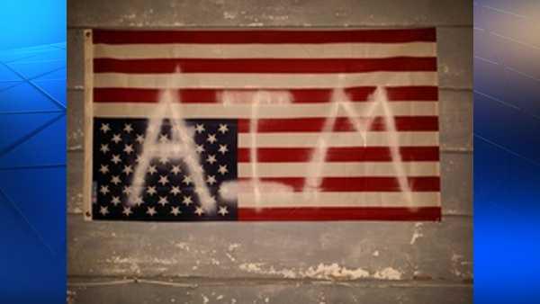 AIM protest flag