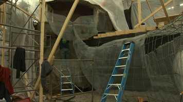 Construction on the Noah's Ark ride atKennywood.