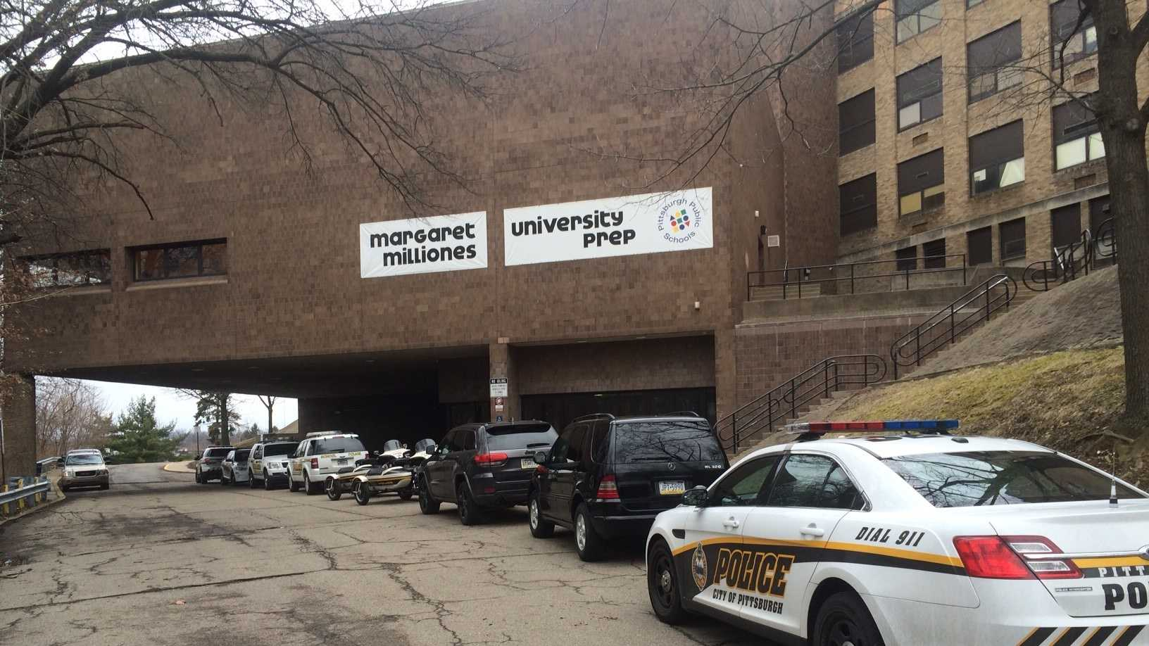 Pittsburgh Public Schools has announced Pittsburgh Milliones at University Prep is currently on lockdown.