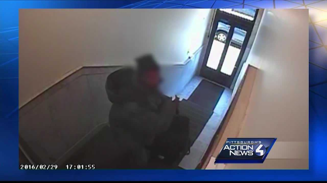 Shadyside residents looking for man they captured on camera taking packages from an apartment building.