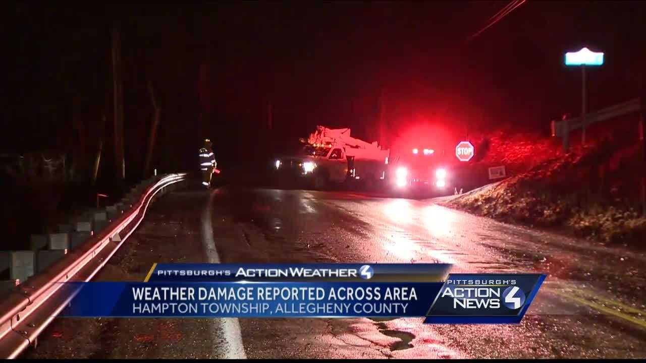Pittsburgh's Action News 4 reporter Bofta Yimam with a look at damage caused by strong winds that moved through the Pittsburgh area overnight