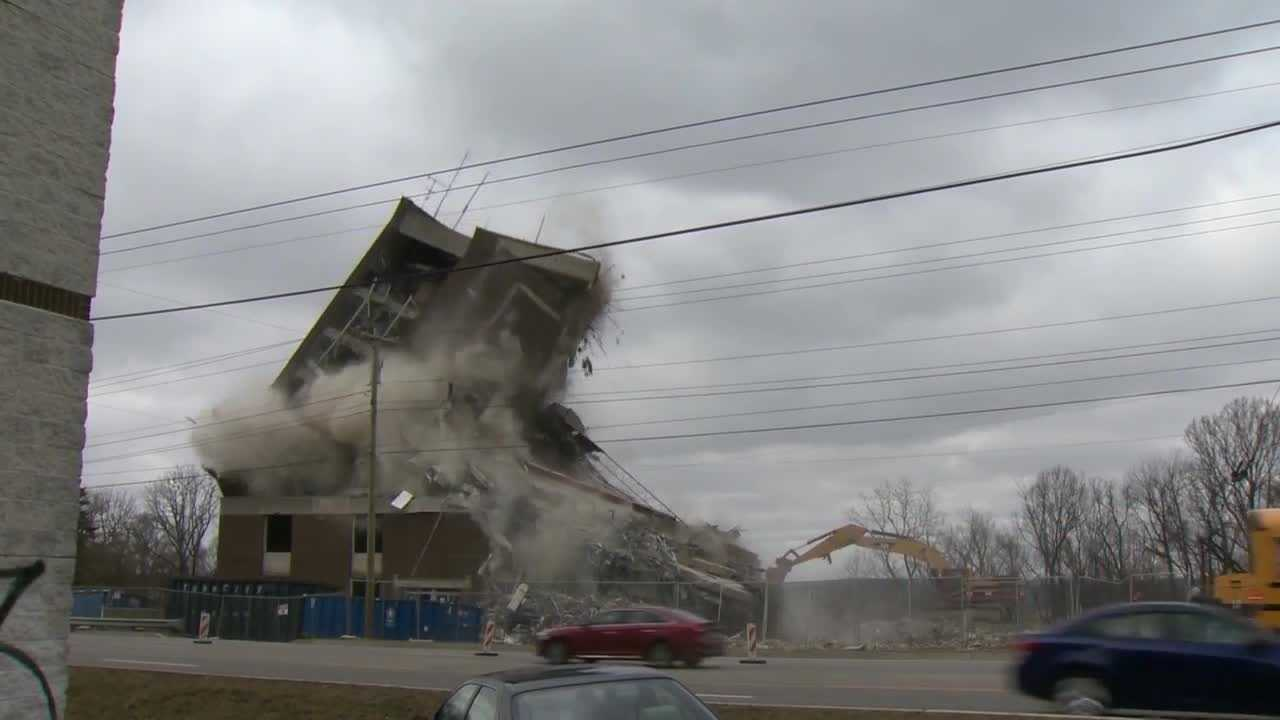 Demolition crews brought down the old Monsour Medical Center in Jeannette.