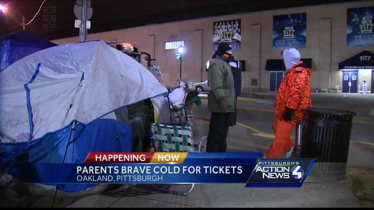 Pittsburgh's Action News 4 reporter Katelyn Sykes catches up with parents who lined up for hours in freezing cold to get tickets to the WPIAL Swimming and Diving Championships
