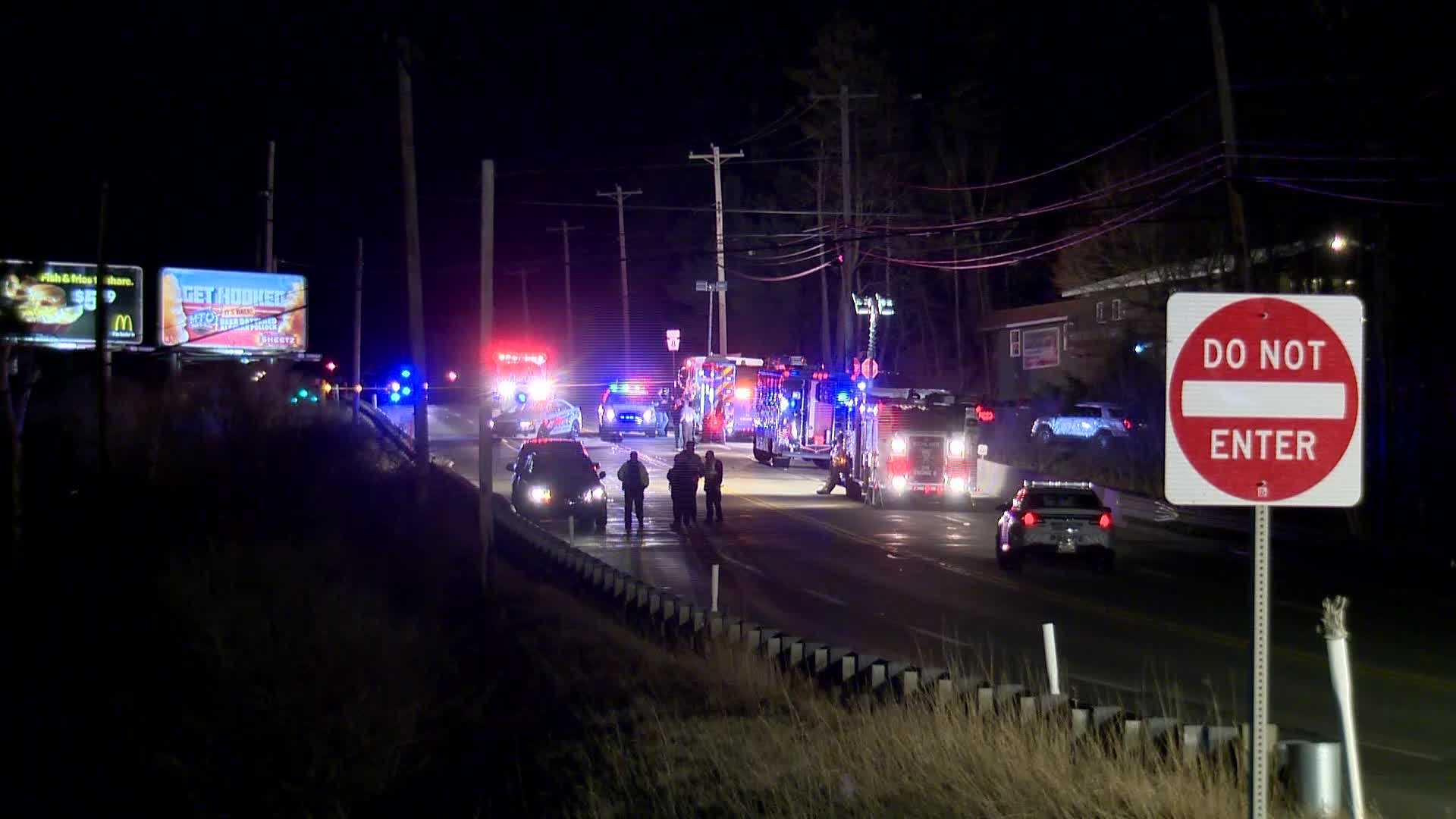 A pedestrian was hit and killed Monday night in Richland Township Monday night.