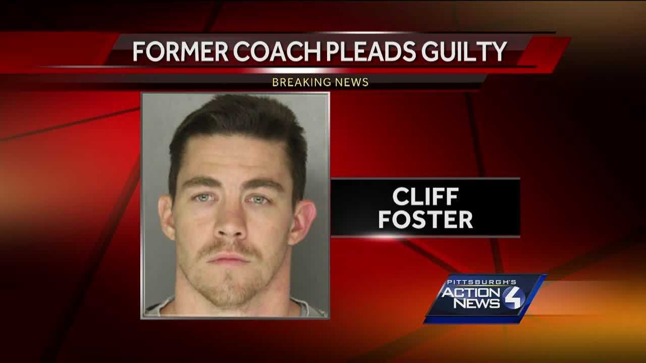 Former Pine Richland coach Cliff Foster pleaded guilty in court Wednesday. Foster was accused of having sex with a 16-year-old student while he was coaching girls basketball at the school.