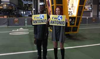 Antonio Brown and Sharna Burgess
