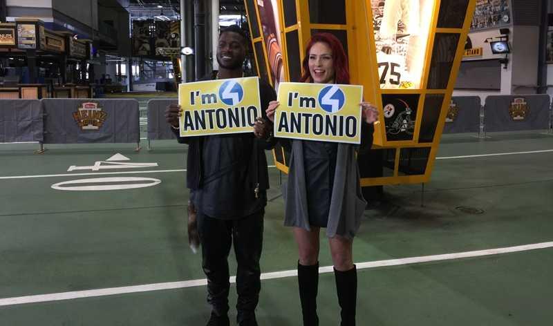 Antonio Brown and Sharna Burgess