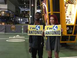 Watch Antonio Brown and his dancing partner Sharna Burgess compete for the Mirror Ball Trophy on the new season of Dancing with the Stars premeiring at 8 p.m. on March 21.