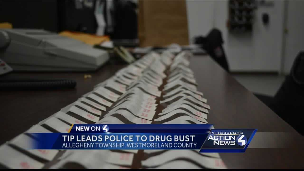 A tip to police led to a drug bust in Westmoreland County late Saturday night.