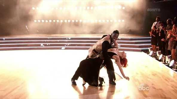 Antonio Brown and Sharna Burgess scored a total 21 out of 30 points for their first dance, the Quickstep, Monday night.