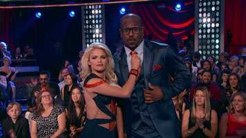 """The MVP of Super Bowl 50 Von Miller danced the Foxtrot with Witney Carson.""""You've got the moves! You have bucketloads of charisma and presence!"""" Bruno said."""