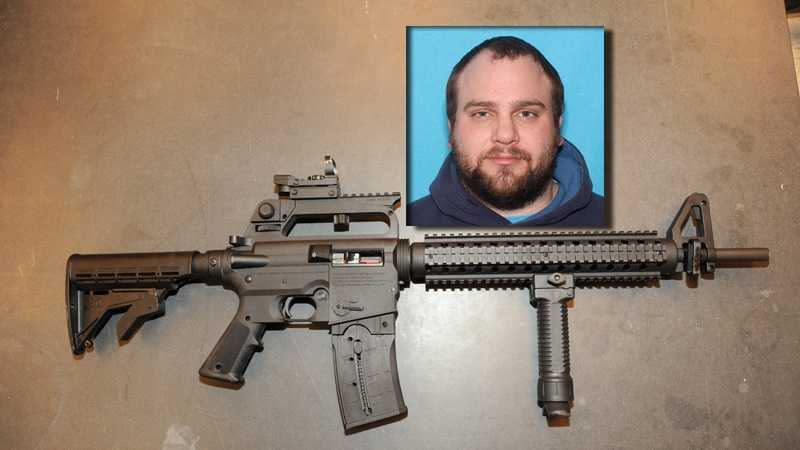 Police say Edward Gorinski was carrying this rifle when he tried to carjack a woman in South Greensburg.