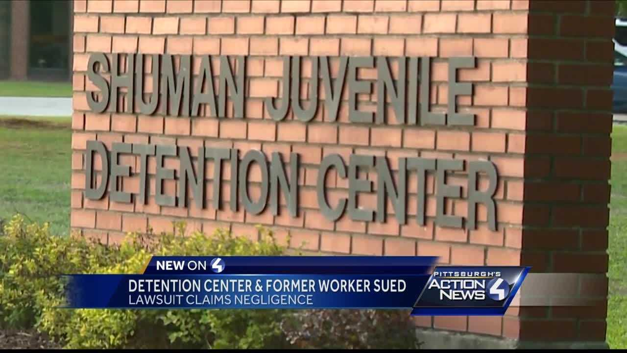 A teenager is suing a Pennsylvania juvenile detention center and one of its workers who is accused of soliciting her for sex.