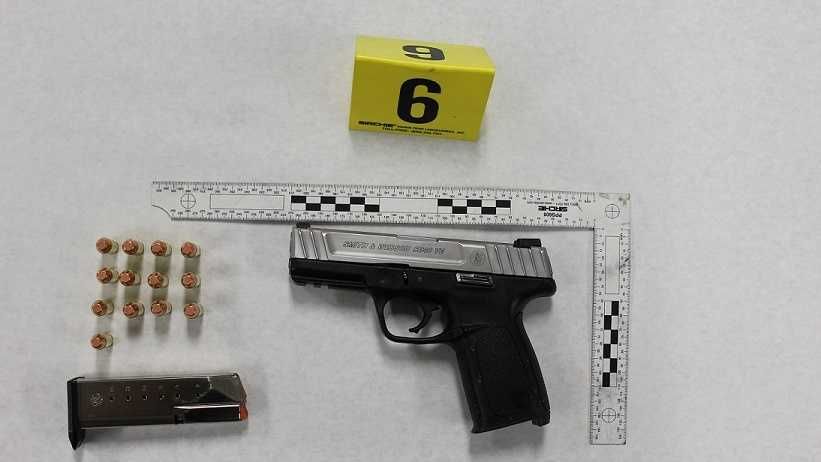 Multiple shells and a pistol were recovered outside a home in Northview Heights Friday morning.