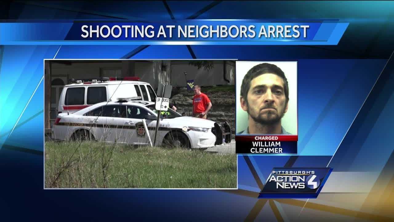 Police say William Clemmer fired at least a dozen shots at his neighbors in Springhill Township on Thursday.  Clemmer was taken in to custody after an hours-long standoff.