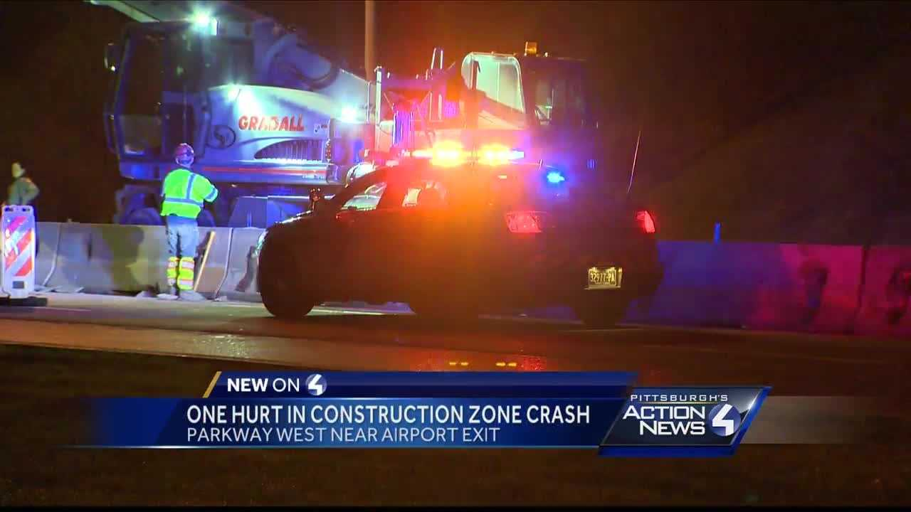 One person was taken to the hospital after a crash on I-376 early Saturday morning.