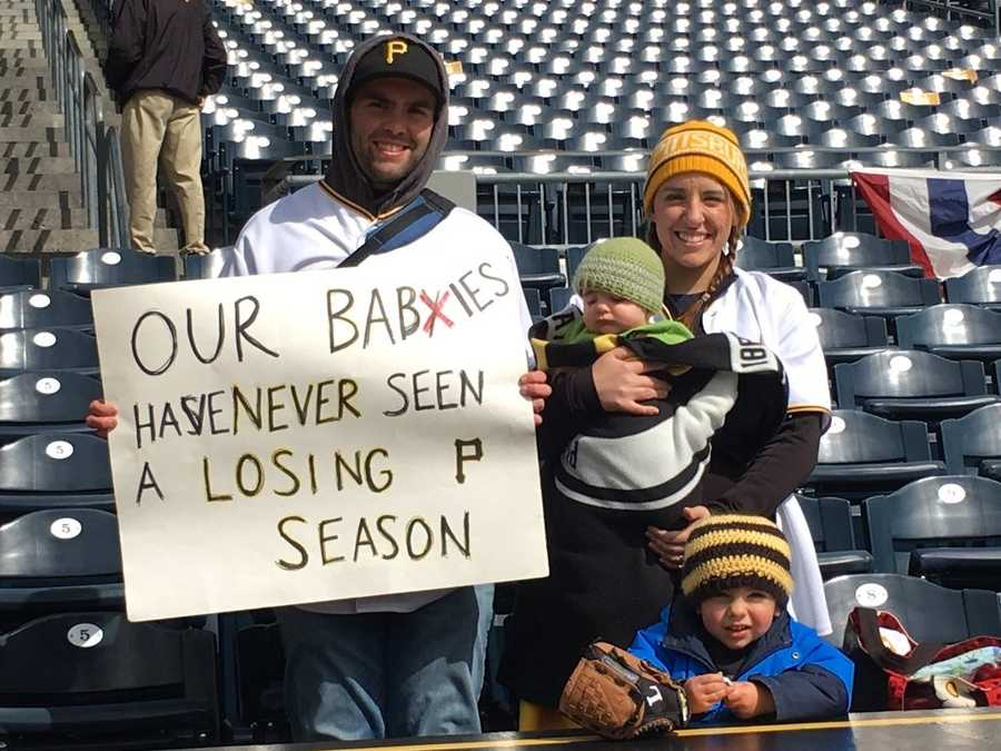 Check out some of the Pittsburgh Pirates fans as they celebrate Opening Day here in Pittsburgh and around the world!