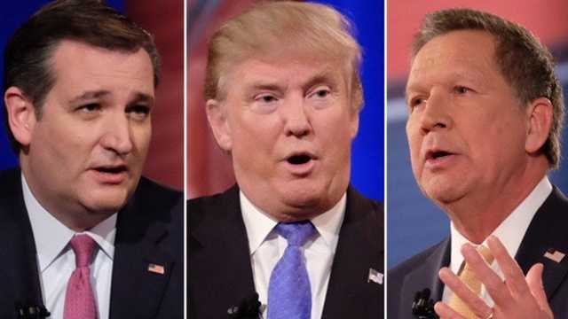 Cruz Trump Kasich split