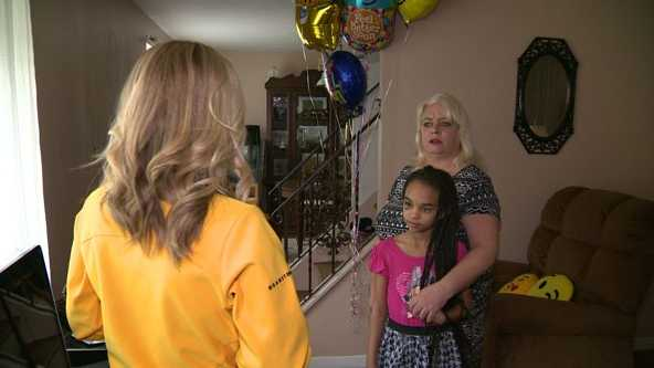 Olivia Walter, 10, and her mother Colleen speak to Pittsburgh's Action News 4.